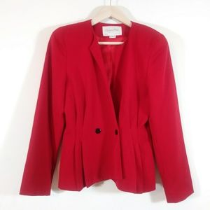 ⏬Christian DIOR vintage lipstick red fitted jacket